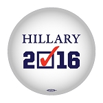 HILLARY CHECK- Button - 2 1/4