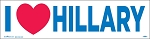 I HEART HILLARY - Bumper Sticker  - 3