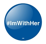 #ImWithHer- Button - 2 1/4