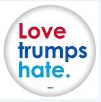 Love Trumps Hate - Button - 2 1/4