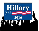 Hillary Flag-Rally12x18 2 sides