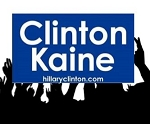 Clinton Kaine -Rally12x18 2 sides