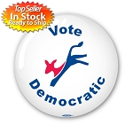 "Donkey 'Vote Democratic"" - 2 1/4"" button"
