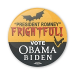 "Frightful Romney - 2 1/4"" round Button"