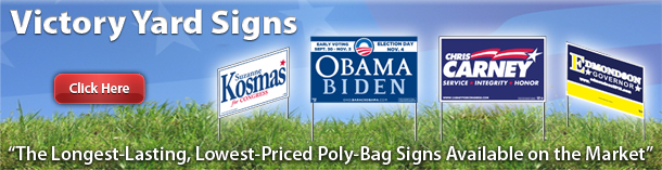 The Quintessential Campaign Tool Yard Sign Allows A Whole Neighborhood To Know Who Their Friends And Neighbors Support As Gov