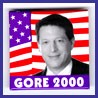 Gore Square Photo Button w/ U.S. flag