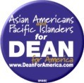 Asian Americans and Pacific Islanders for Dean Button