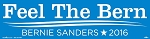 "Feel the Bern (Bernie) - Bumper Sticker  - 3"" x 11 1/2"""