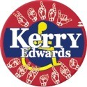 Disabled Americans (Sign Language) for Kerry/Edwards 2004 Button