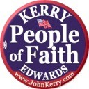 People of Faith for Kerry/Edwards 2004 Button