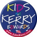 Kids for Kerry/Edwards 2004 2 1/4 in Button