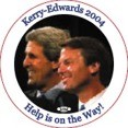 Kerry/Edwards Help Is On the Way Photo button