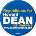 Republicans for Howard Dean Button