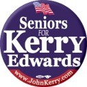 Seniors for Kerry/Edwards 2004 Button