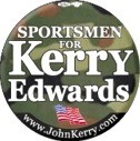 Sportsmen for Kerry/Edwards 2004 Camouflage Button