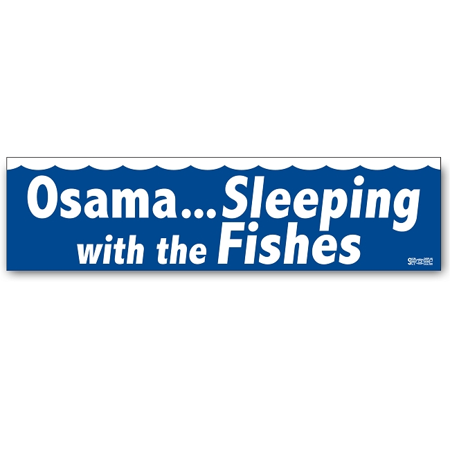 Osama sleeping with the fishes for Sleeping with the fishes