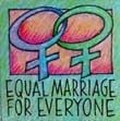 """Equal Marriage Women"" Handmade Collector's Pin"