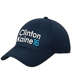 Clinton Kaine 16 Embroidered Hat | Unstructured  | Made in the USA | Union Decorated