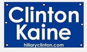 Clinton Kaine Vinyl  Banner 4 ft. x 8 ft. (one side imprint)