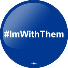 "#imwiththem- Button - 2 1/4"" round"