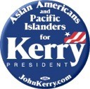 Asian Americans and Pacific Islanders for Kerry Button