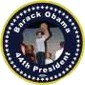 Barack Obama 44th President Basketball Photo Buttons