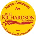 Native Americans for Bill Richardson 2008 Button