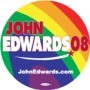 John Edwards 2008 Rainbow Button