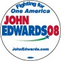 John Edwards 2008 One America Button