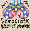 """Democratic Warrior Women"" Handmade Collector's Pin"