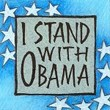 """I Stand With Obama"" Handmade Collector's Pin"