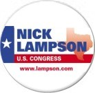 Nick Lampson 2006 Campaign Button