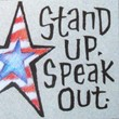 """Stand Up. Speak Out"" Handmade Collector's Pin"