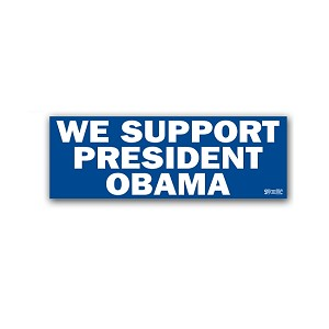 2012 - We Support President Obama - Bumper Sticker
