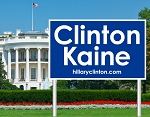 Clinton Kaine Poly Bag Yard Sign with Wire Frame | 26