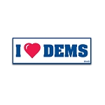 I (Heart) Democrats - Bumper Sticker