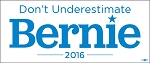 Bernie 2016 BUMPER STICKER 3.7 5
