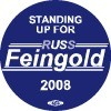 Standing up for Russ Feingold Button