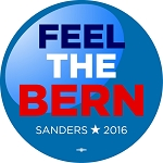 Feel the Bern (Bernie) - Button - 2 1/4