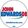 John Edwards 2008 White Button