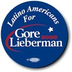 Latino Americans for Gore-Lieberman Button