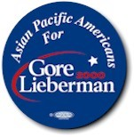 Asian Pacific Americans for Gore-Lieberman Button