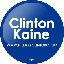 "Clinton Kaine |  Roll of 500 | 3"" Lapel Stickers"