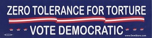 Zero Tolerance for Torture Vote Democratic