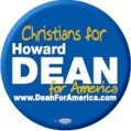 Christians for Howard Dean Button