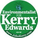 Environmentalist for Kerry/Edwards 2004 Button