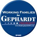 Working Families for Gephardt Button