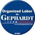 Organized Labor for Gephardt Button