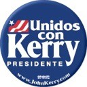 Unidos Con Kerry Presidente Button