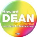 Tie Dyed Howard Dean Button
